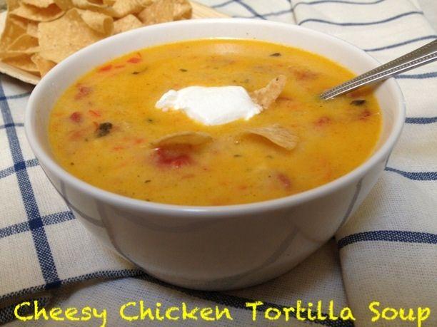 Cheesy Chicken Tortilla Soup {Secret Recipe Club}