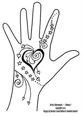 simple kids hand henna tattoo design