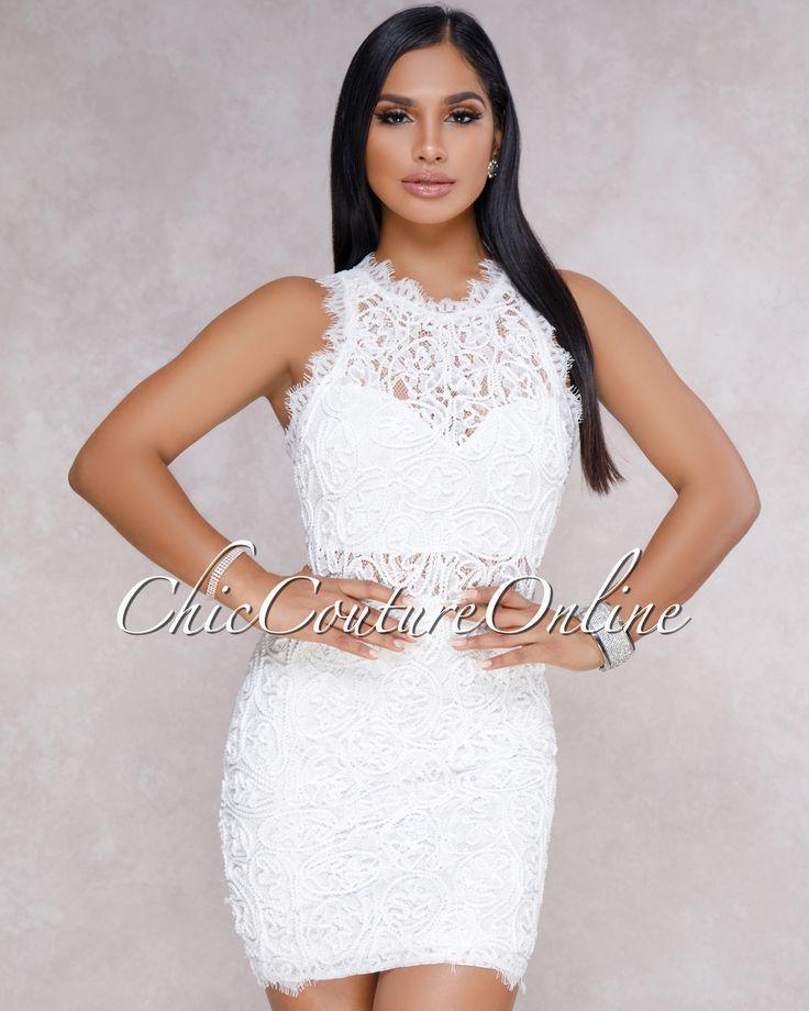 Chic Couture Online - Rivera White Nude Illusion Crochet Mini Dress,  (http://www.chiccoutureonline.com/rivera-white-nude-illusion-crochet-mini-dress/)