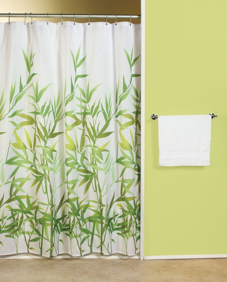 Lime Green And White Shower Curtains Curtain Menzilperde Net