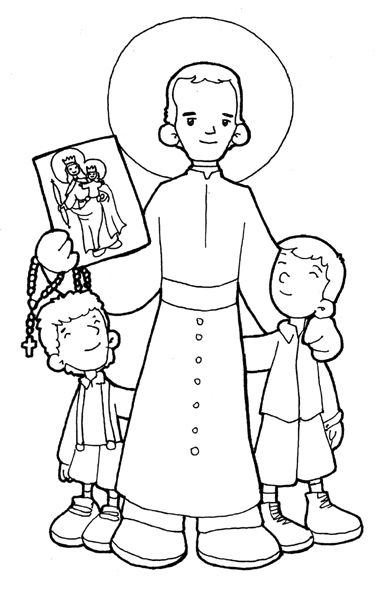 st john bosco catholic coloring page feast day is january 31st