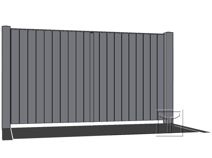 Poort 19.01B | Lenaerts Houten Poorten – houten opritpoorten op maat