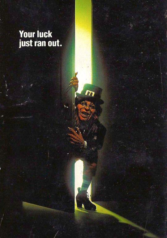 Leprechaun 1993 movie poster-promo art find