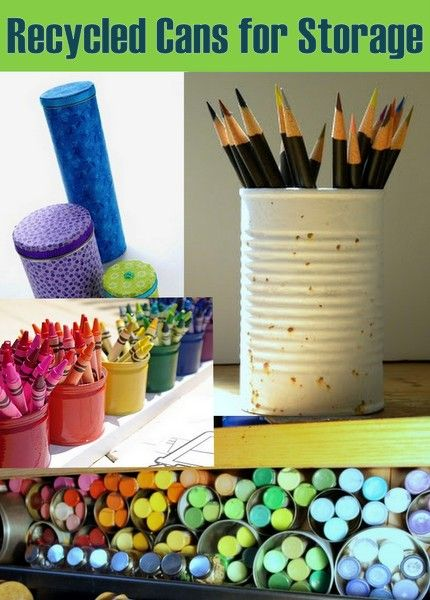 20 Plus Recycled Storage Solutions (including my recycled rainbow crayon organizer!) ~ THE COUNTRY CHIC COTTAGE