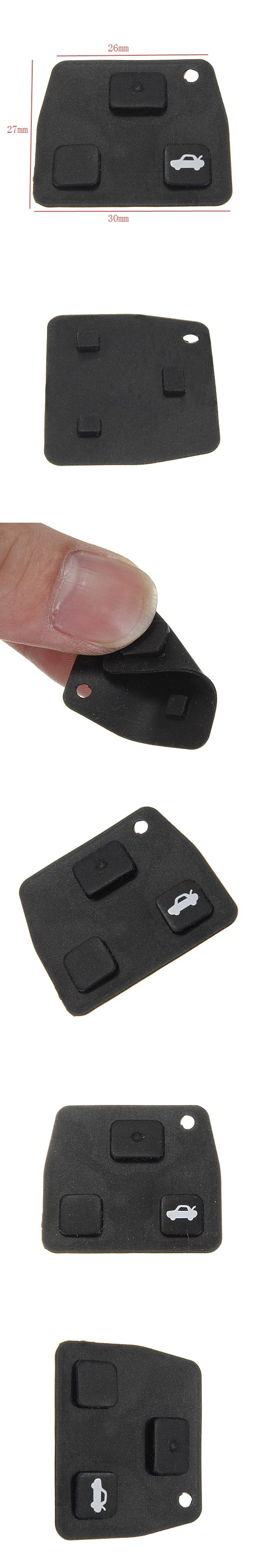2 3 Button Car Remote Key Fob Rubber Pad For Toyota /Avensis /Corolla /Lexus /Rav4
