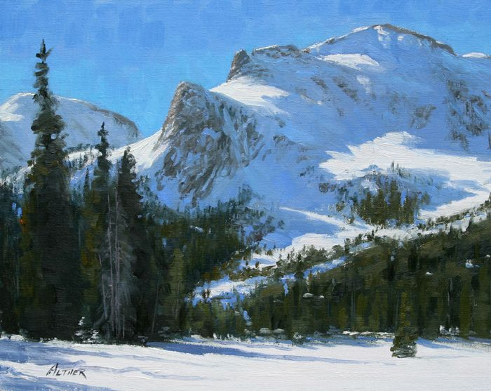 Snowy Landscape Painting By William Alther Art