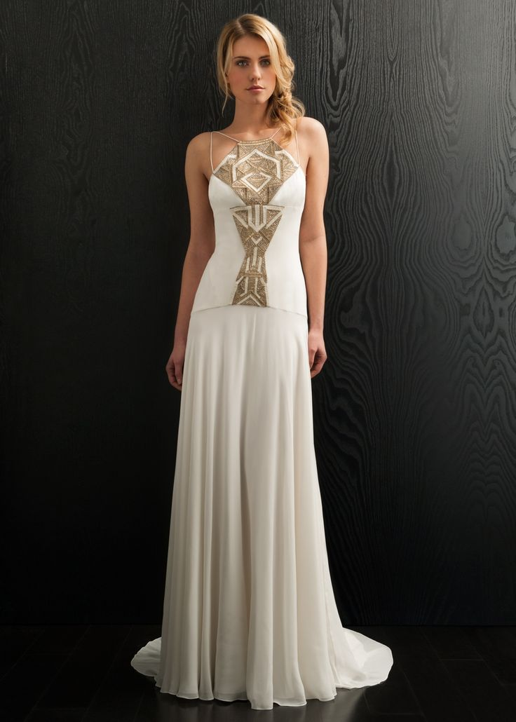 Posephone Wedding Dress, Amanda Wakeley The Spaghetti Straps On This Dress  Create Such A Striking Yet Elegant Shape, And The Angular Placement On The  ...