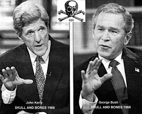 What happens if you ask John Kerry, the new Rothschild Zionist US Secretary of State, about his membership of the super-secret and sinister Skull and Bones Society – Boy George Bush his 'opponent' in the 2004 presidential election is also a member » David Icke