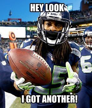 Seattle Seahawks - Interception!!! #4 on the year for Richard Sherman! Boo yah   Seattle vs Rams Oct 28, 2013