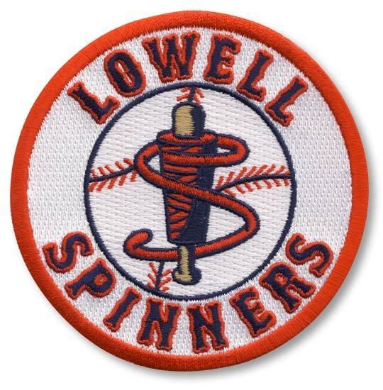 Lowell Spinners Primary Team Logo Jersey Sleeve Minor League Baseball Patch #PatchCollection #LowellSpinners