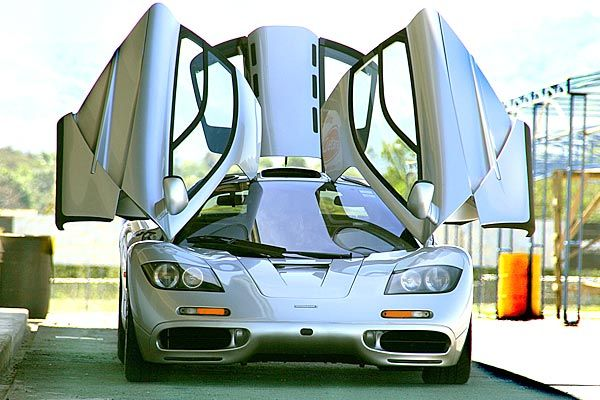 McLaren F1 - This McLaren F1 is one of the World's Most Expensive Cars and with its doors wide open it looks like a mechanical bat out of hell. Its 1994 price tag was $974,000 and has increased over time. #cars #expensive #mclaren