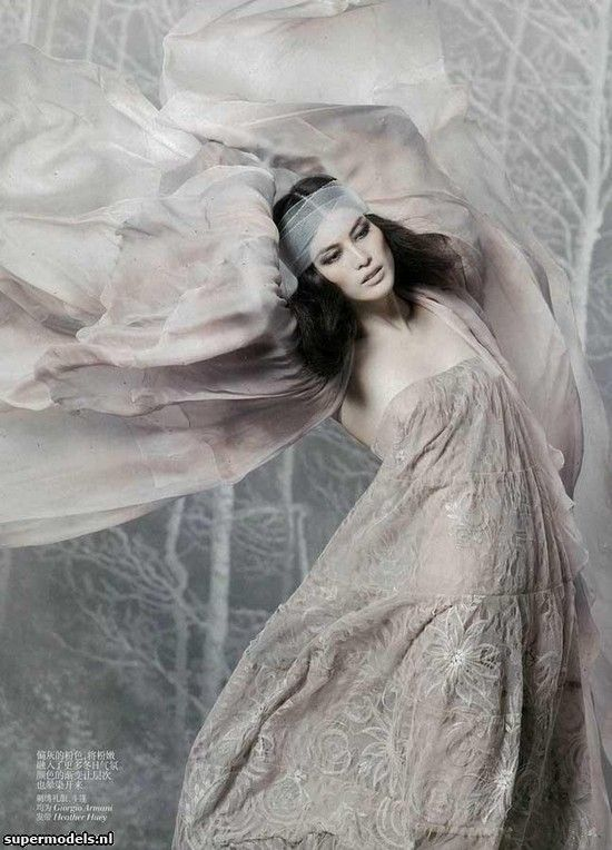 Sui He in 'Flower Fairy' - Photographed by Mark Segal (Vogue China December 2011)