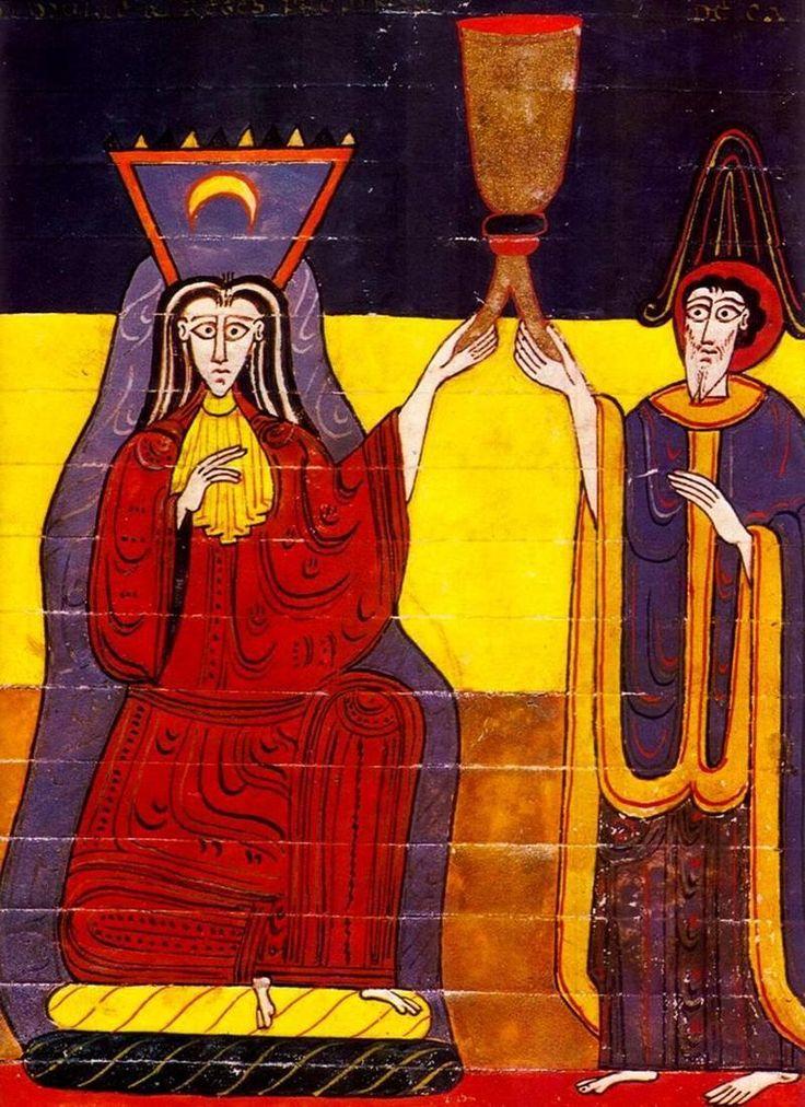 Personificación alegórica de Babilonia. Beato de Fernando I. S. XI