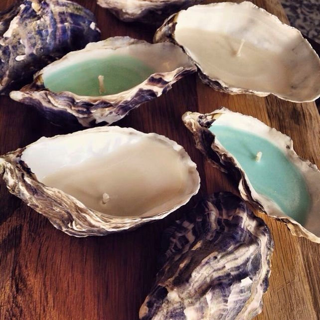 Trio of Oyster shell candles                                                                                                                                                      More