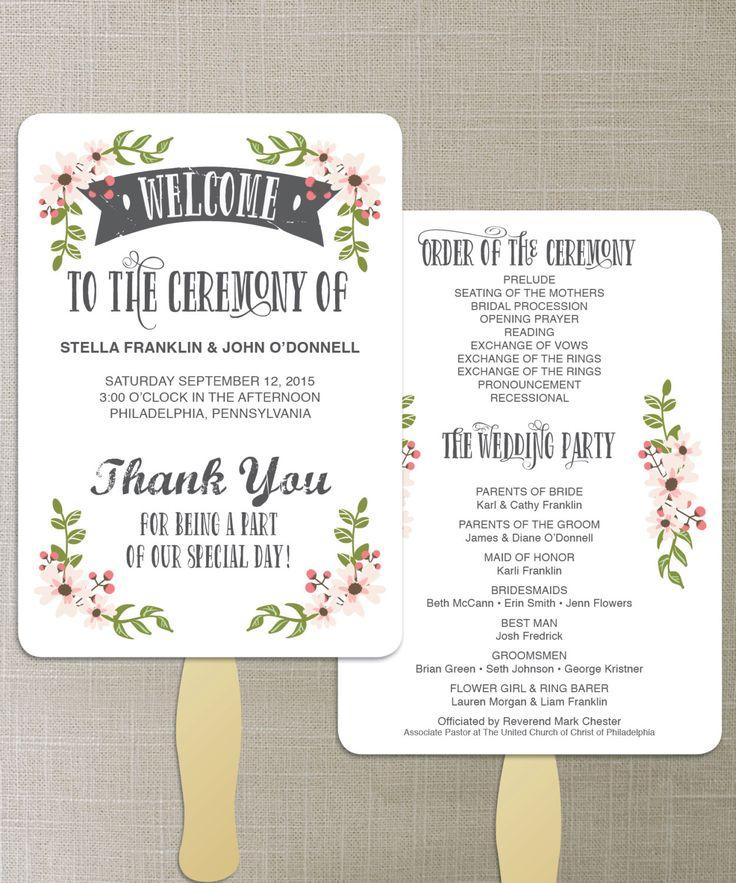 The 25+ best Fan wedding programs ideas on Pinterest Diy wedding - wedding program