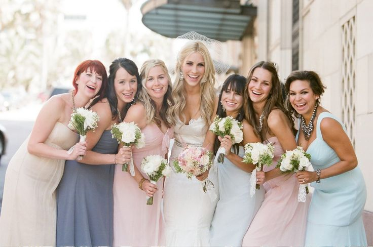20 fabulous bridesmaid dresses! check out all the trends from blush dresses to mismatched dresses to rocking those nude heels