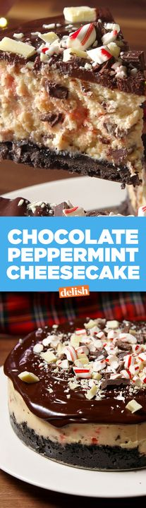 Chocolate Peppermint Cheesecake is the reason for the season. Get the recipe from Delish.com.