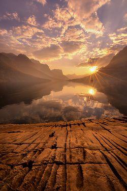 Sunset, St. Mary Lake, Montana