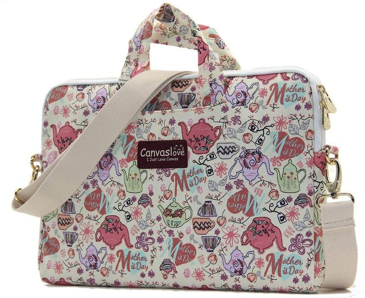 "Canvas Laptop Shoulder Messenger Bag Case For 11""-13.3"" Inches Laptop Cartoon #Canvaslove"