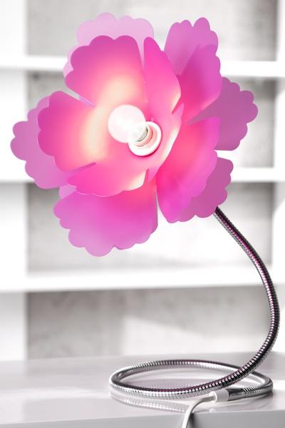 Extravagante Tischleuchte FLORCITA pink Lampe  bei Riess Ambiente