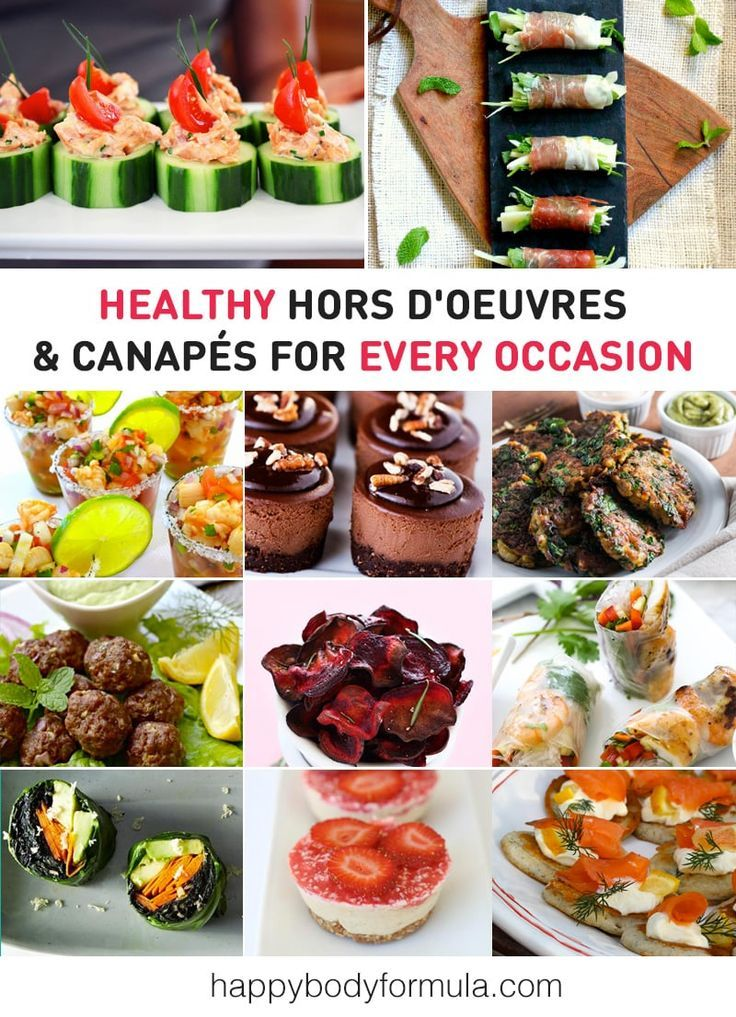Healthy Hors D'oeuvres, Canapes & Finger Food Ideas - paleo, vegan and raw recipes.
