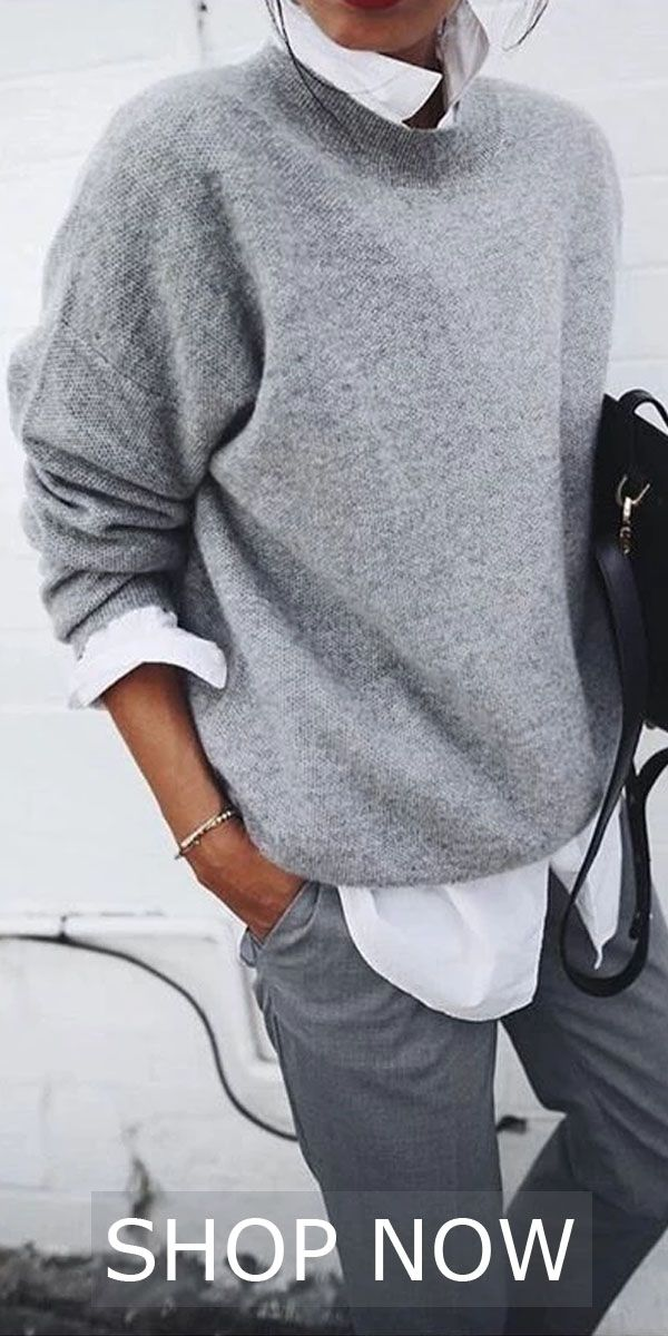 Fashion Pure Color Sweaters
