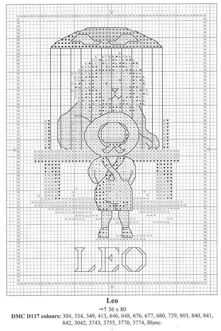 Schema punto croce Segni Zodiacali 8