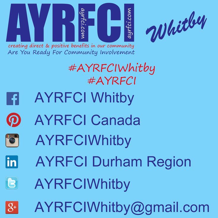 Same great information on the network you like the most! #AYRFCIWhitby #AYRFCI http://areyoureadyforci.com/Whitby.html