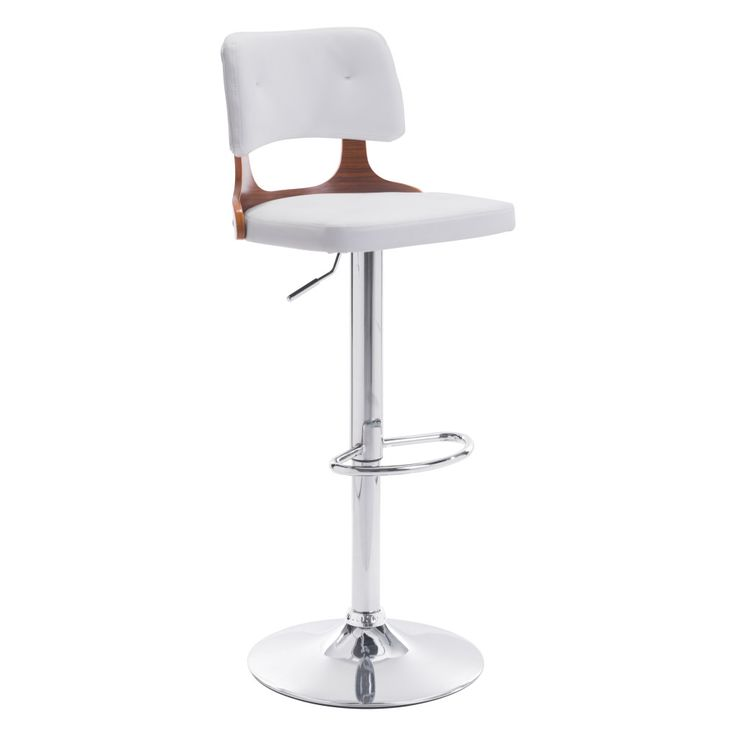 Ronald Bar Stool seat made in leather