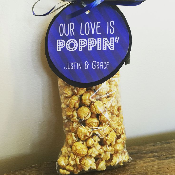 Our love is poppin gourmet popcorn wedding favors