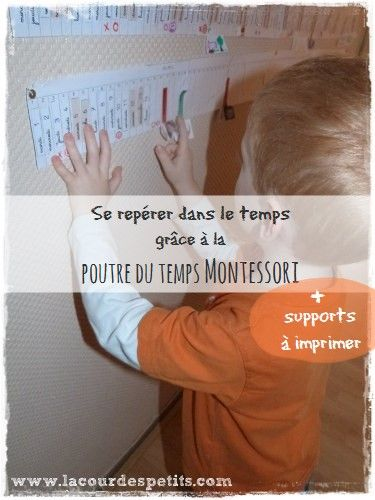La poutre du temps Montessori à imprimer |La cour des petits