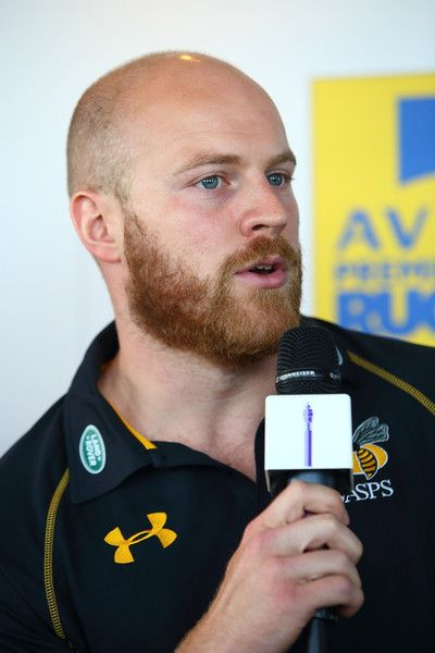 Joe Simpson Photos Photos - Joe Simpson of London Wasps talk during the launch of the Premiership Rugby 2015-16 Season Fixtures at the BT Tower on July 3, 2015 in London, England. - 2015-16 Aviva Premiership Rugby Season Fixtures Announced