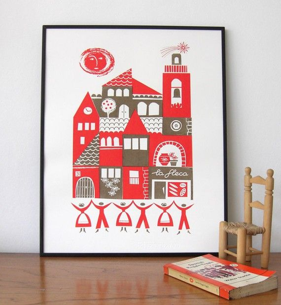 Some Cute Print and Pillow Images 4 a Child's Room over at - sardana | roddy and ginger on etsy