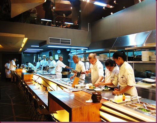 chef's table open kitchen