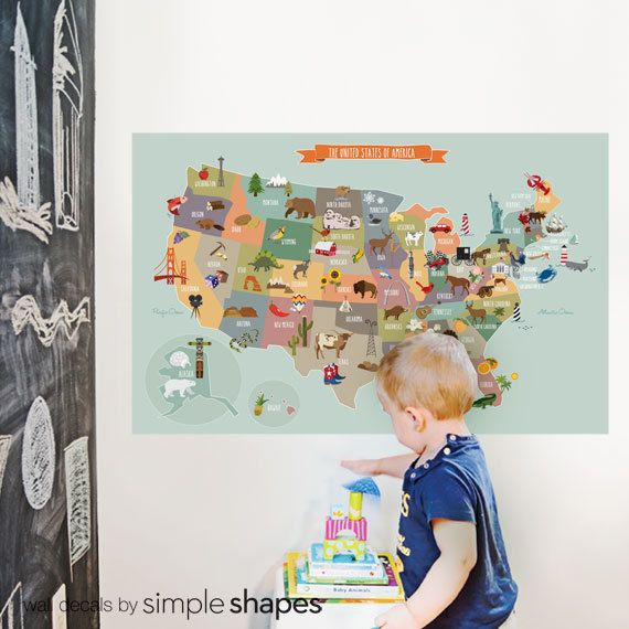 Best Wall Art Images On Pinterest Usa Maps Map Of Usa And - Us wall map where you put your pictures on
