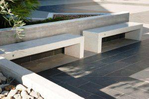 VENEZIA concrete marble bench #Bellitalia arredo urbano - street furniture