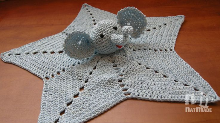 Sleepy  Bear Crochet Baby Security blanket, Crochet Snuggle Quilt,  Baby Huggy,Baby blanket,Crochet blanket by NatmadeCrafts on Etsy