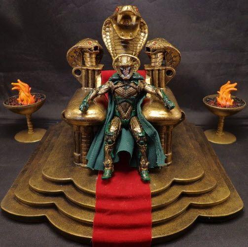 GI Joe Zombie Action Figure   Serpentor and Throne Custom Cobra GI Joe Dio by Stronox