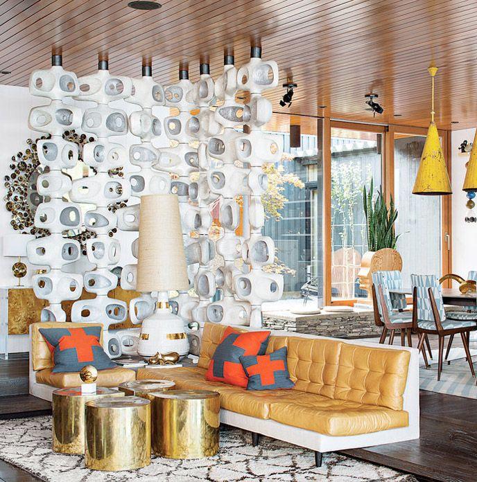 A eclética decoração de Jonathan Adler. Veja: http://www.casadevalentina.com.br/blog/materia/o-para-so-ecl-tico-de-jonathan-adler.html  #decor #decoracao #interior #design #home #casa #house #idea #ideia #cozy #style #estilo #cor #color #casadevalentina