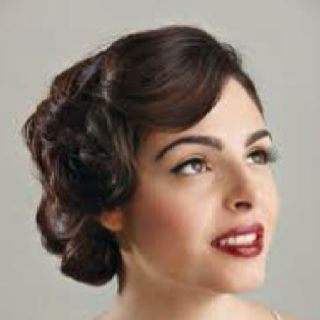 Finger waves/pin curls and low updo for Heather's 40's wedding?