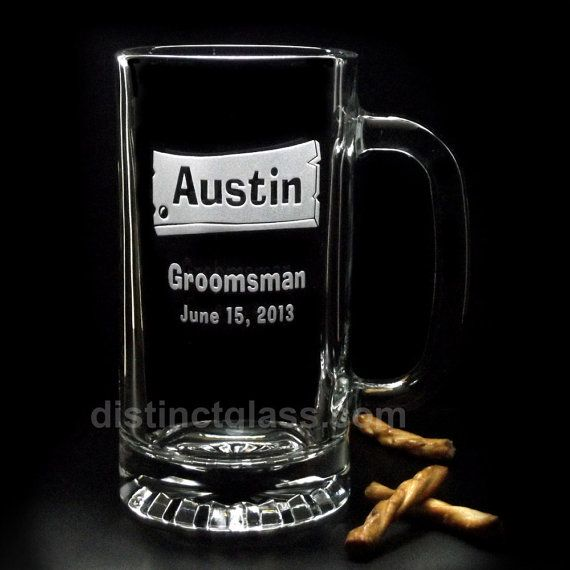 Take your Country Western-Themed Wedding to the next level with Personalized WOOD PLANK WEDDING BEER MUGS. Give your Best Man and Groomsman, (heck