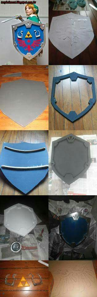 Hylian Shield for Link cosplay made by me.                                                                                                                                                                                 More