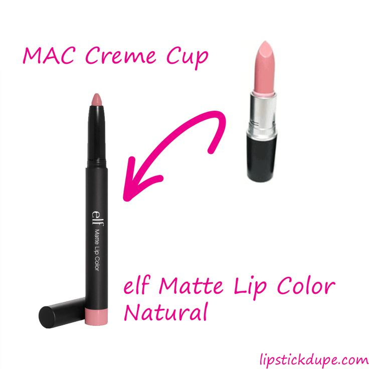 MAC Creme Cup dupe elf natural  www.lipstickdupe.com