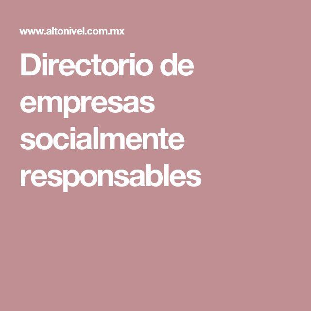 Directorio de empresas socialmente responsables