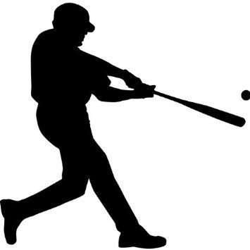 Amazon.com - Baseball Wall Decal Sticker - Sports Silhouette Decoration Mural - 12 in. Black