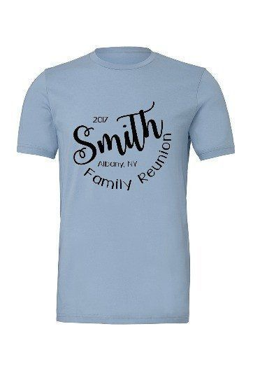 172917f7 Family Reunion Name Screen Printed Tee Shirts | Family Reunion ...