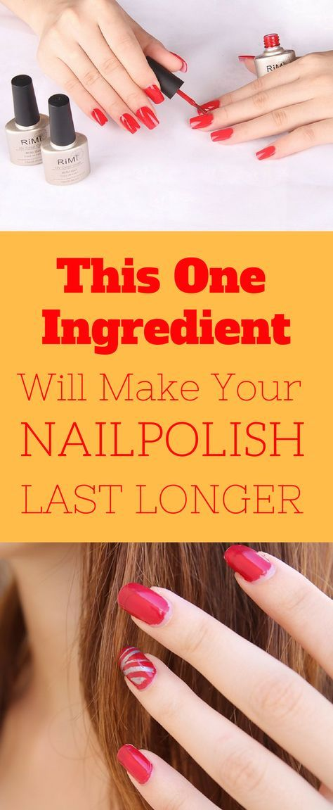 With Just One Ingredient Your Nail Polish Will Last Longer