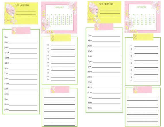 Scripted Personal Week on Two Pages Planner Inserts | Wendaful