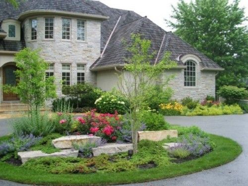 Circle drive landscaping pinterest home lakes and for Garden designs with stone circles