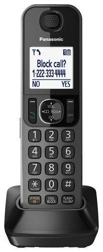 Panasonic - KX-TGFA30M Dect 6.0 Cordless Expansion Handset for Select Panasonic Expandable Phone Systems - Metallic Black
